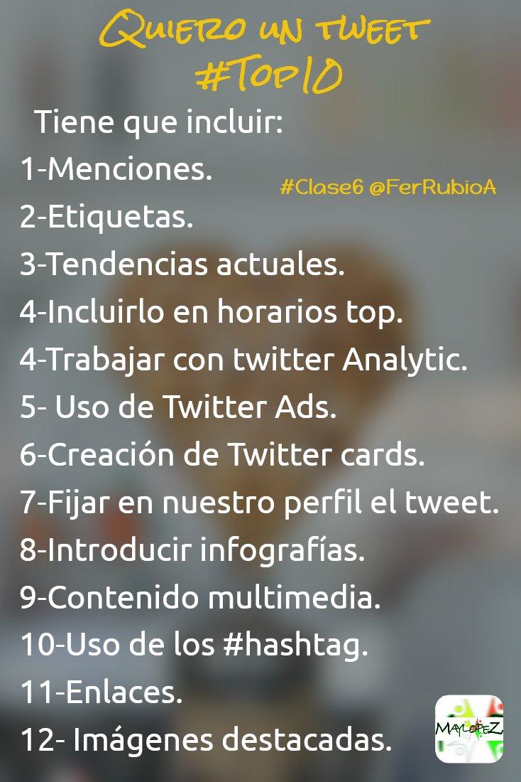 MI tweet top 10