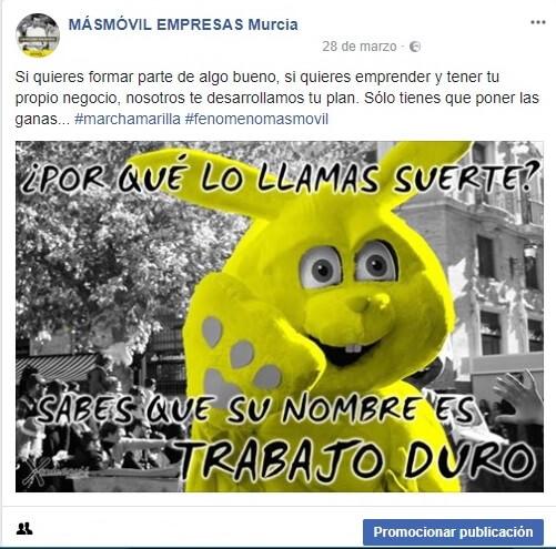 imagen publicacion facebook masmovil empresas Murcia