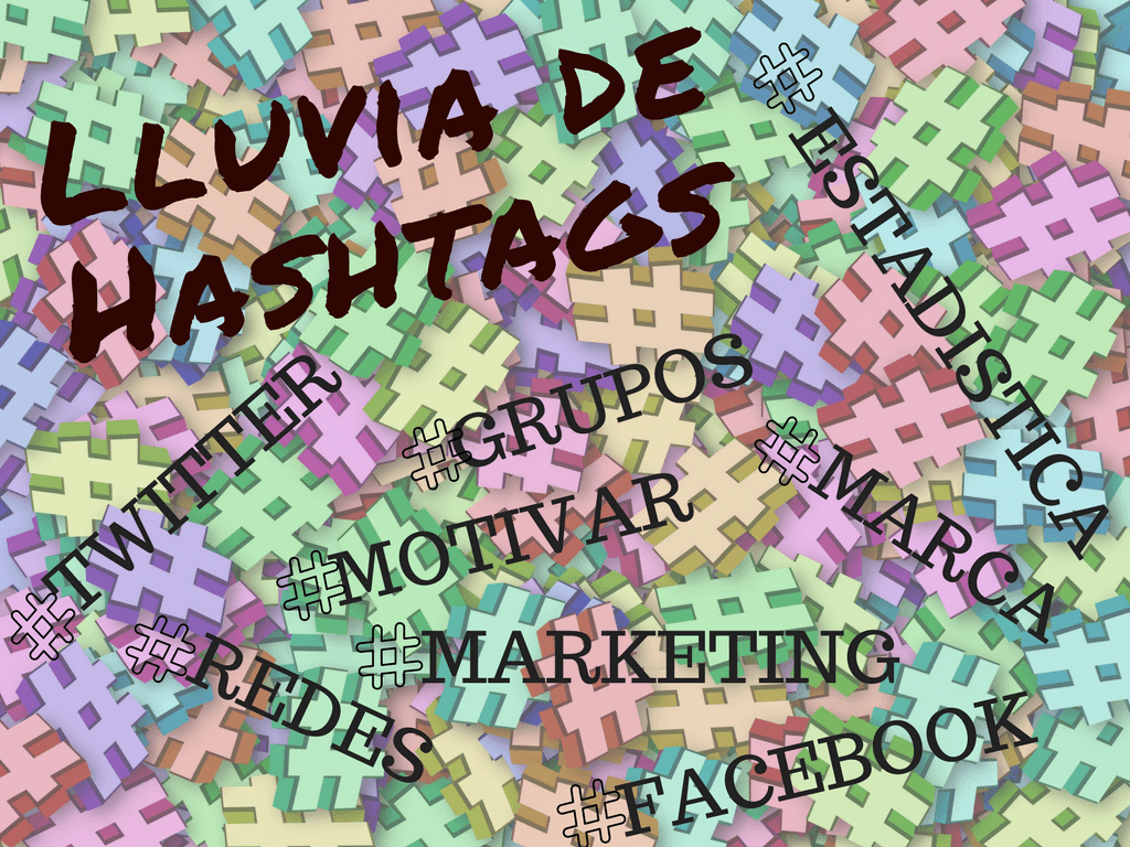 lluvia de hashtags hechizada por D marketing
